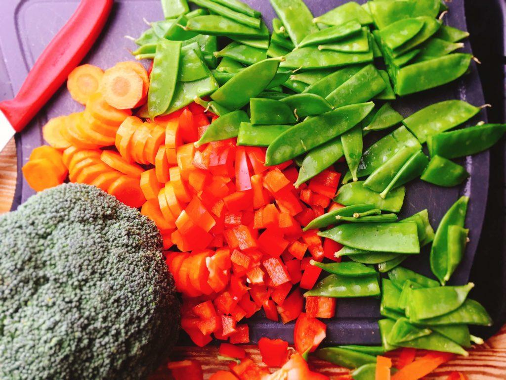 Gemüse für das rote Thai-Curry