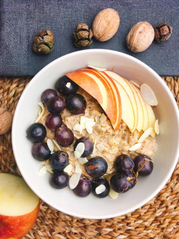 Rezept für schnelles und cremiges Bananenporridge