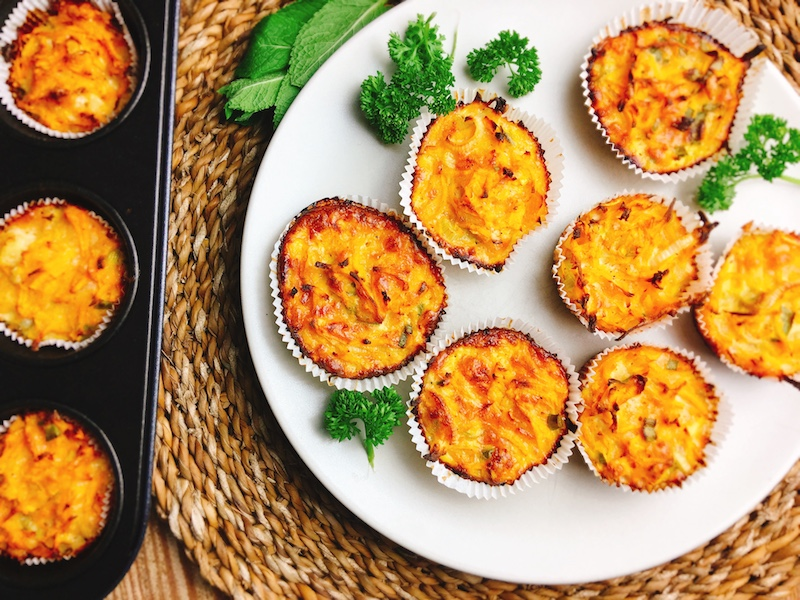 Rezept für herzhafte Süßkartoffel-Muffins