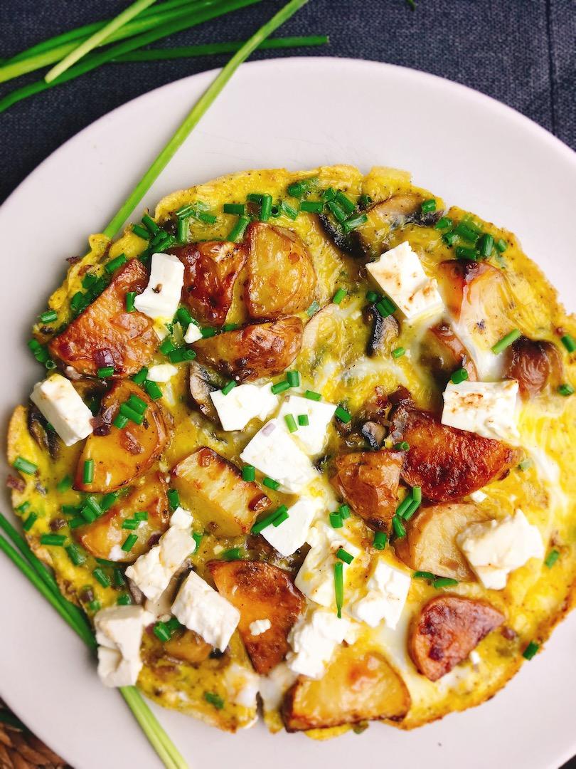 Rezept für ein leckeres mediterranes Omelett
